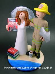 fireman wedding cake toppers firefighter wedding cake toppers