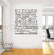 Wall Stickers For Kitchen by Vinyl Wall Sticker Art Kitchen Words Inspirational Words For