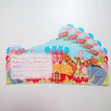 online shop 6pcs bag winnie bear the pooh invitation card theme