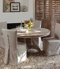 Slip Covers Dining Room Chairs - slip covered dining chairs dining room eclectic with area rug