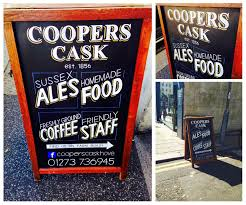 Cask Pub And Kitchen London Pub Blackboard Design By Ollie Stone January 2015