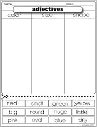 adjective worksheets 1st grade worksheets