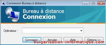 port connexion bureau à distance utiliser le bureau à distance sur deux pc reliés avec un routeur