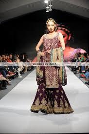 pakistani bridal collection plum sharara latest designer dresses