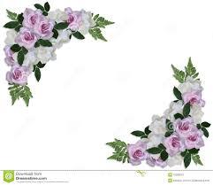 wedding invitation roses corner design stock illustration