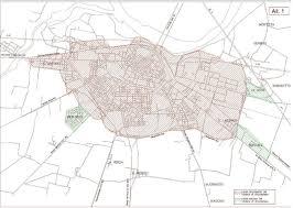 Urbino Italy Map by Piacenza