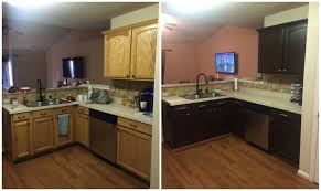 How Do You Paint Kitchen Cabinets Diy Painting Kitchen Cabinets Before And After Pics