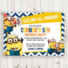 design despicable me first birthday invitations with despicable