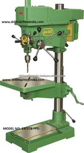 Pedestal Drill Pa Drill Brand 19 Mm Cap Vertical Drilling Machine With 378 Mm