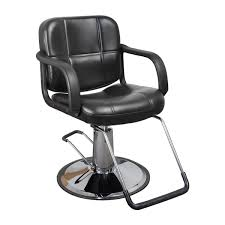 Style Chairs Black Quilted Hair Salon Styling Chair