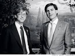 Bill Gates And Steve Jobs Meme - steve jobs and bill gates in 1980 meme by mamen009 memedroid