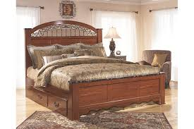 Ashley Prentice Bed Porter Queen Panel Bed Ashley Furniture - Ashley furniture bedroom set marble top