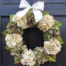 hydrangea wreath year artificial hydrangea wreath for all season