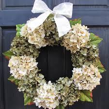 Wreath For Front Door Amazon Com Year Round Artificial Hydrangea Wreath For All Season
