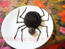 Spider Cakes For Halloween Vegetarian Halloween Party Food Almost Vegan In Paradise
