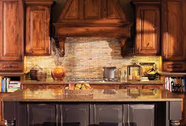 kitchen wooden range hood and narrow island design plus rustic