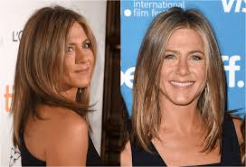 what hair suits a strong chin oval face hairstyles jennifer aniston and more celebs