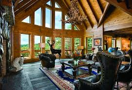 Interior Of Log Homes by 7 More Than Great Log Home Great Rooms