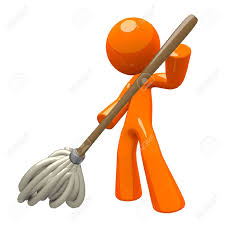 Floor Cleaning by Orange Man With 3d Mop Mopping The Floor Cleaning Services