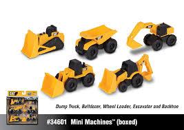 cat mini machines 5 toy vehicle playset digger dump truck