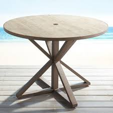 round wood patio table gray round dining table