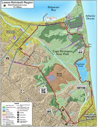Great Loop Map Junction Breakwater And Gordon U0027s Pond Trail Delaware Greenways