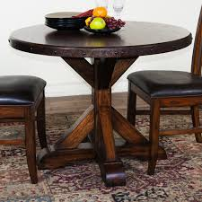 Round Wooden Dining Set Round Black Wood Dining Table Home Design Ideas