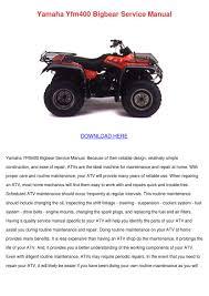 yamaha yfm400 bigbear service manual by meghan capehart issuu