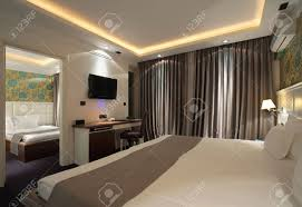 interior a hotel apartment with furniture modern contemporary