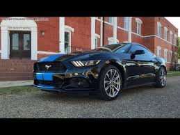 Blue Mustang Black Stripes Grabber Blue Stripes On 2015 Ford Mustang Gt Fastback Are A Must