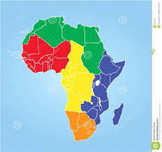 Regions Of Africa Map by Nigeria Map With Regions Royalty Free Stock Photos Image 30401038