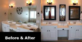 Bathroom Remodel Ideas Before And After Remodeled Bathroom Mirror Before After Bathroom Remodel Ideas