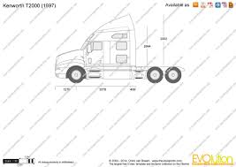 kenworth t2000 the blueprints com vector drawing kenworth t2000