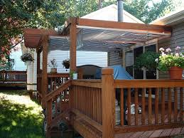 Wood Awning Design Deck Awning Ideas Doherty House How To Build Deck Awning