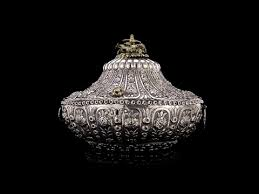 Ottoman Empire Jewelry Antique 19thc Ottoman Empire Solid Silver Jewellery Box
