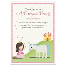 princess party invitation template birthday invitations and