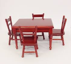 wooden dolls house furniture 8 piece kitchen dining room set 1 12