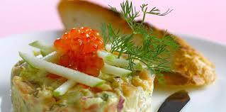 cuisine poisson facile tartare aux trois poissons facile recette sur cuisine actuelle