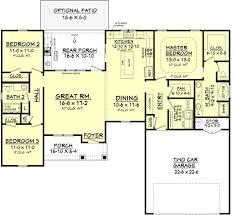Farm Floor Plans Farmhouse Style House Plan 3 Beds 2 00 Baths 1609 Sqft 430 77 Hahnow