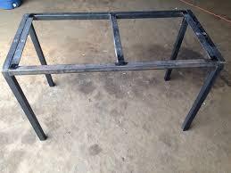 Steel Frame Desk Home Design Charming Iron Table Frame Custom Metal Desk Home