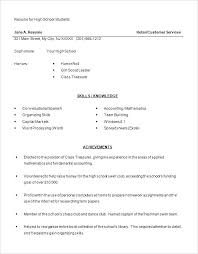resume template for high student with no experience resume resume exles high templates free sles with
