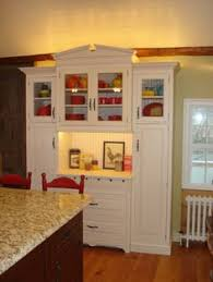 great way to repurpose a computer desk and hutch for dining room