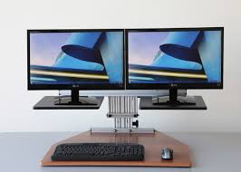 Standing Sitting Desk by Standing About Sit Stand Desktop Desks