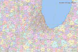 chicago zip code map search the maptechnica printable map catalog maptechnica