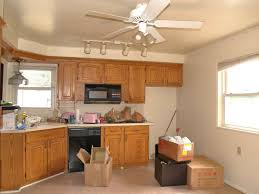 kitchen oak kitchen cabinets with kitchen track lighting and