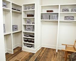 modern bedroom decoration with walk in closet organizers white