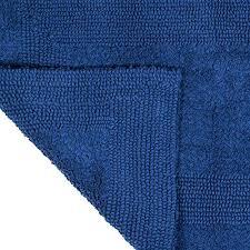Cotton Reversible Bathroom Rug Navy Bathroom Rugs Blue Lavish Home Cotton Reversible Bath