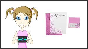 party name place and menu cards youtube