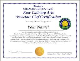 raw food chef certification training and internship program