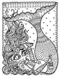 mermaid instant download coloring coloring adults fun